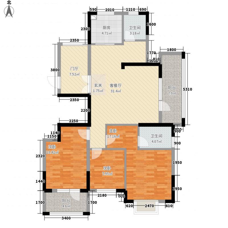 赛格特山水一品3125.62㎡C3户型3室2厅2卫1厨
