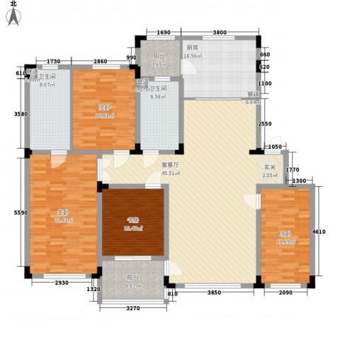 上东街区4室1厅2卫1厨192.00㎡户型图