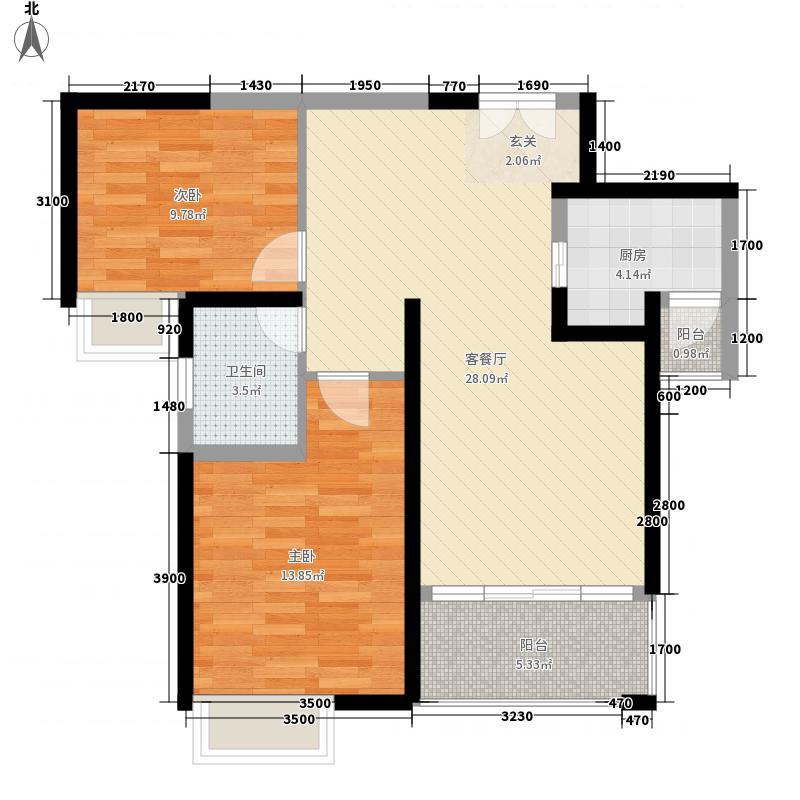 中交・滨江国际5.54㎡D3户型2室2厅1卫