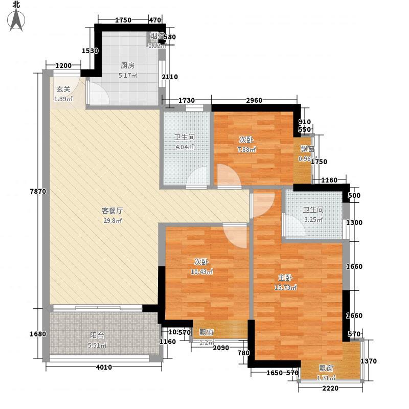 威龙花园115.00㎡户型3室