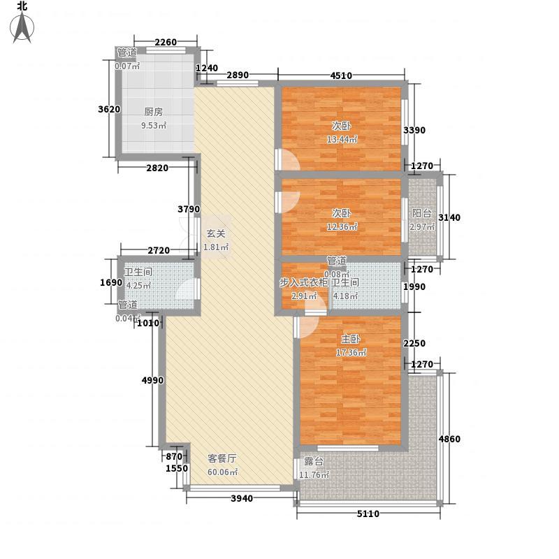 金海花园二期183.00㎡户型3室2厅2卫1厨