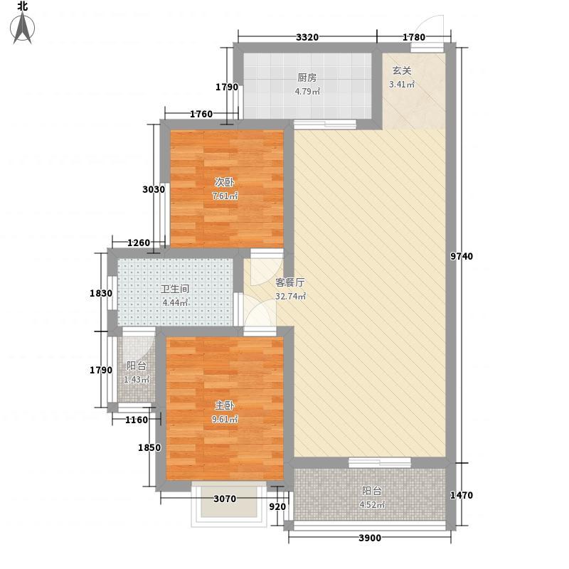盈辉家园8.00㎡户型2室2厅1卫