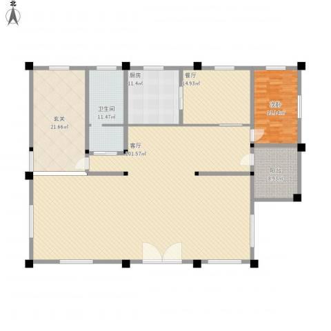 华福花园1室2厅1卫1厨251.00㎡户型图
