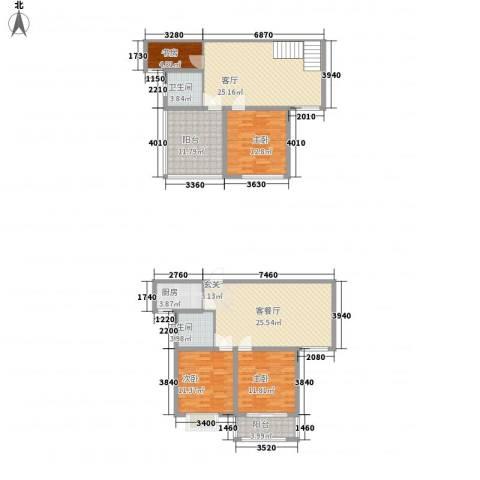 家天下・名筑4室2厅2卫1厨118.96㎡户型图