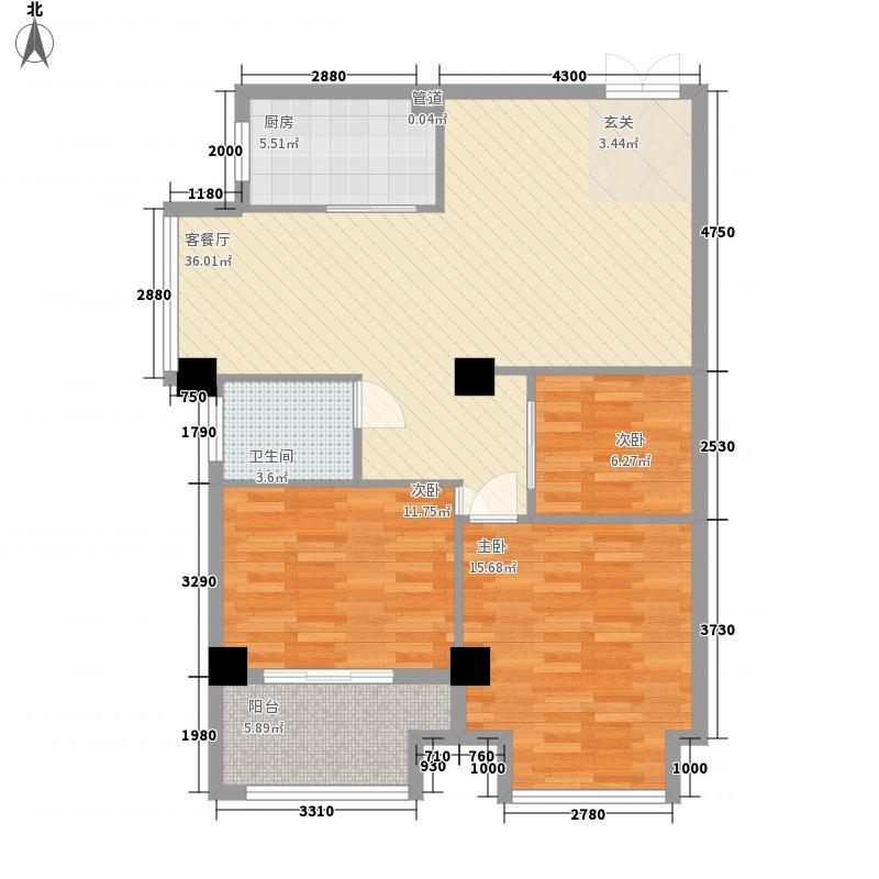 双洋・环球广场2.20㎡2――C-2户型