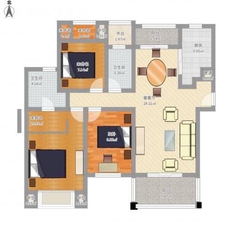 莱蒙水榭春天1室1厅2卫1厨130.00㎡户型图