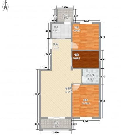 山水华庭3室1厅1卫1厨1315.00㎡户型图