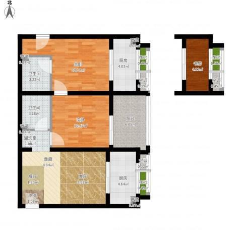 东尚蜂鸟3室1厅2卫2厨103.00㎡户型图