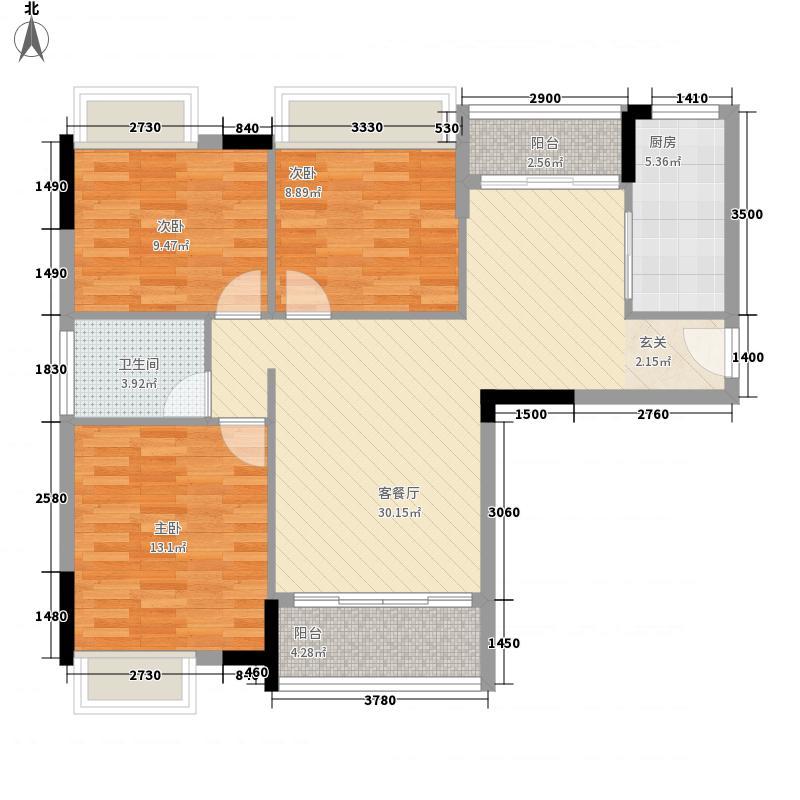 银润明珠城11.00㎡1户型3室2厅1卫1厨
