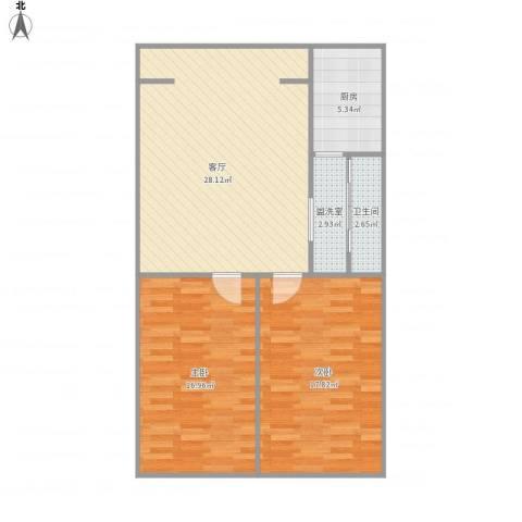 北宁里2室2厅1卫1厨99.00㎡户型图