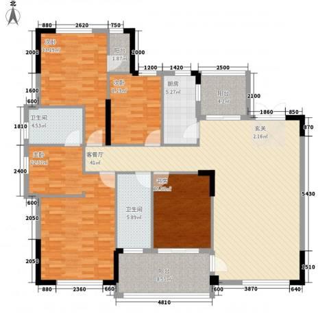 芙蓉公馆4室1厅2卫1厨144.00㎡户型图