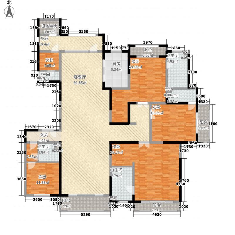 滕商奥体花园363.80㎡A2户型5室3厅5卫1厨