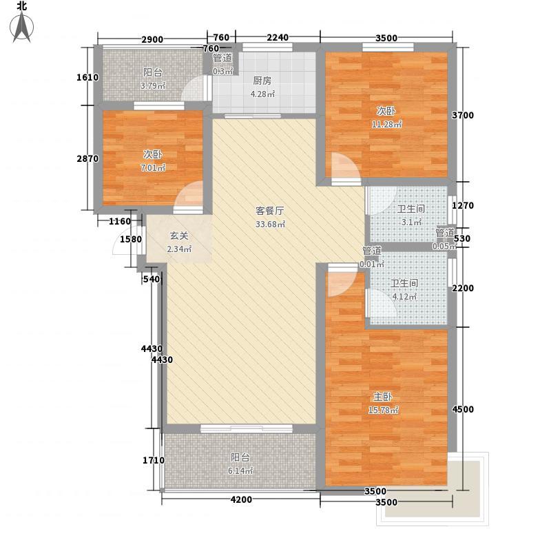 盛世丁陶-26户型3室2厅2卫1厨
