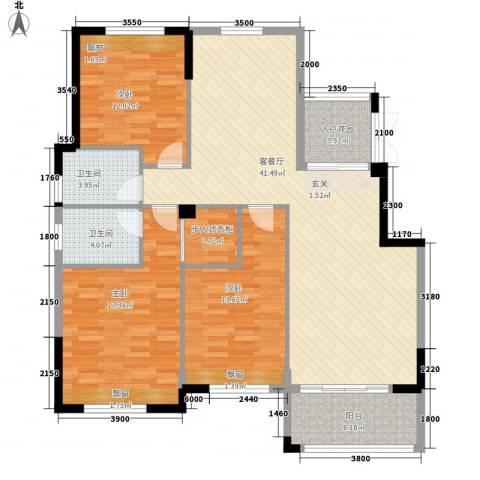 芙蓉公馆3室1厅2卫0厨121.00㎡户型图