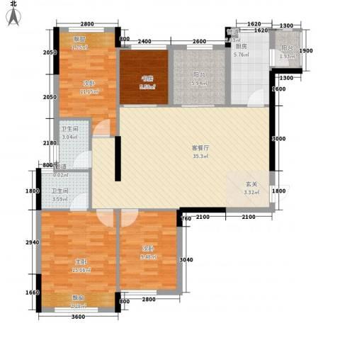 大华・富贵世家4室1厅2卫1厨96.90㎡户型图
