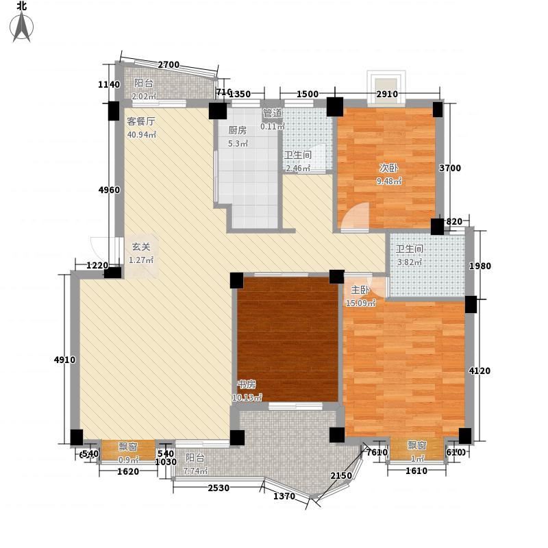 世纪景城112.49㎡世纪景城户型图3室2厅2卫1厨户型10室