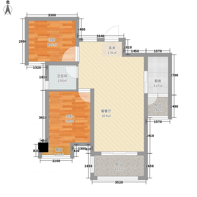 佳成公寓2-2-2-1-2户型2室2厅2卫1厨