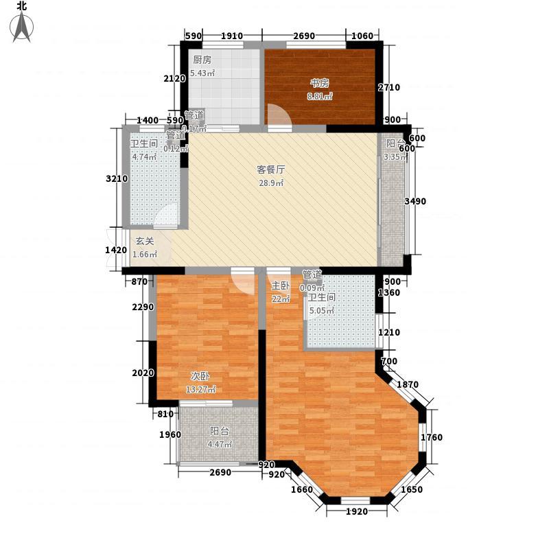 滕商奥体花园136.83㎡D3户型3室2厅2卫1厨