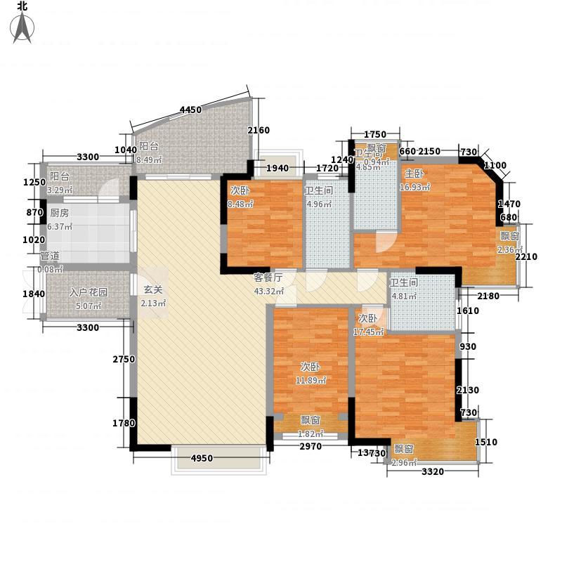 江南御景164.30㎡A2--户型4室2厅3卫1厨