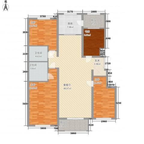 欣豪尚品4室1厅2卫1厨178.00㎡户型图