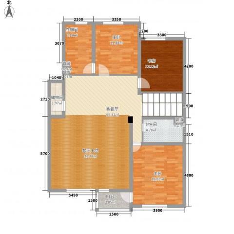 君临天下3室1厅1卫0厨159.00㎡户型图
