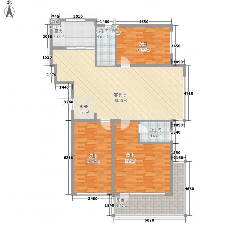 金海花园二期187.10㎡户型3室2厅2卫1厨