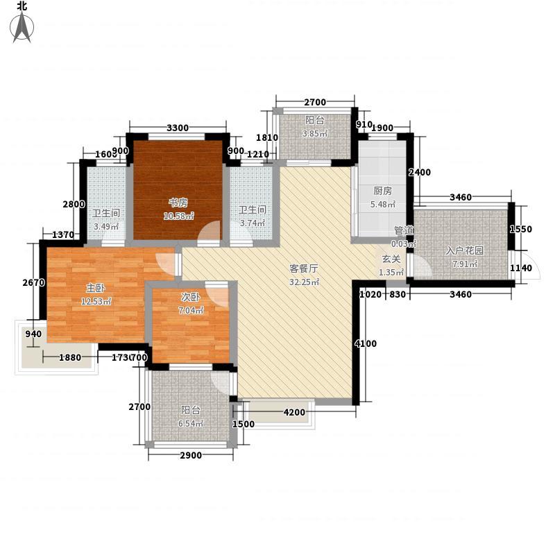 御龙湾12312.20㎡户型3室2厅1卫1厨