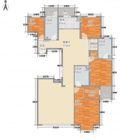 瑞雪春堂4室1厅3卫1厨176.00㎡户型图