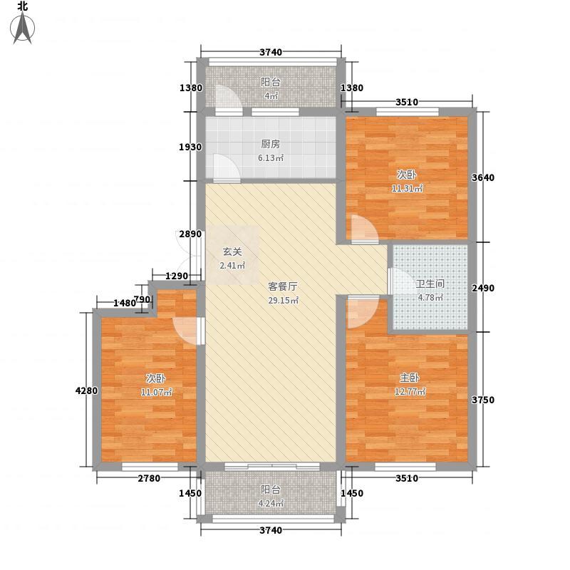山河铭家118.70㎡_p0007户型3室1厅1卫1厨