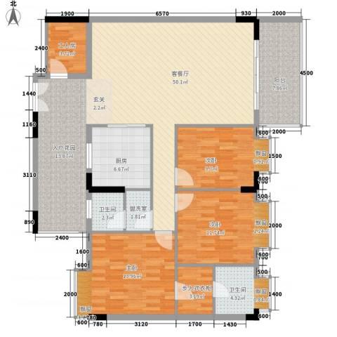 乐居苑3室2厅2卫1厨141.00㎡户型图