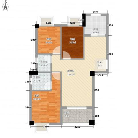 山水华庭3室1厅2卫1厨215171584.00㎡户型图