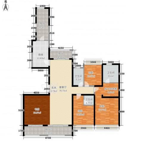 路劲天御3室1厅3卫1厨245.00㎡户型图