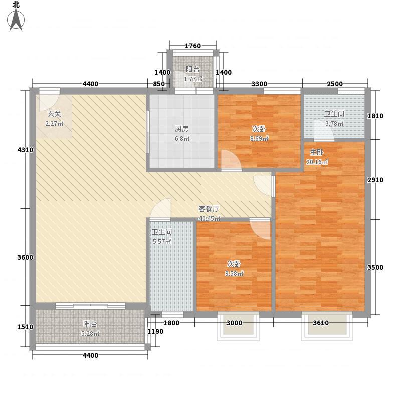 海天名城3115.83㎡户型3室2厅2卫1厨