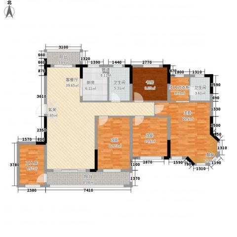 广弘城国际社区4室1厅2卫1厨147.56㎡户型图