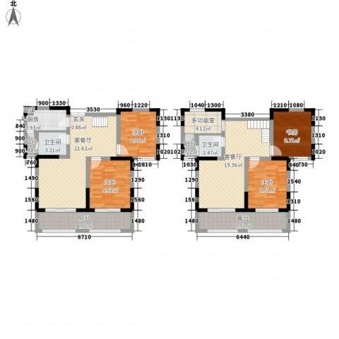 山南小镇4室2厅2卫1厨161.00㎡户型图