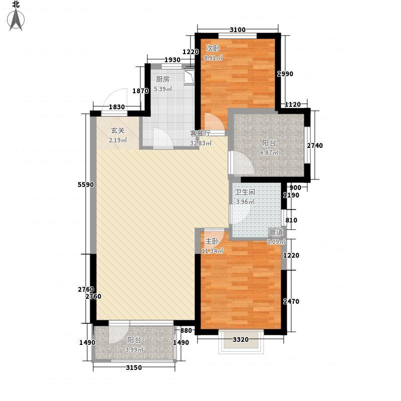 星悦华廷1214.42㎡G1户型2室2厅1卫