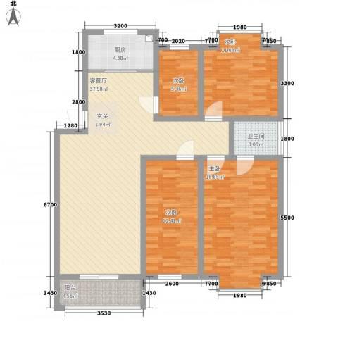 威海花园4室1厅1卫1厨141.00㎡户型图