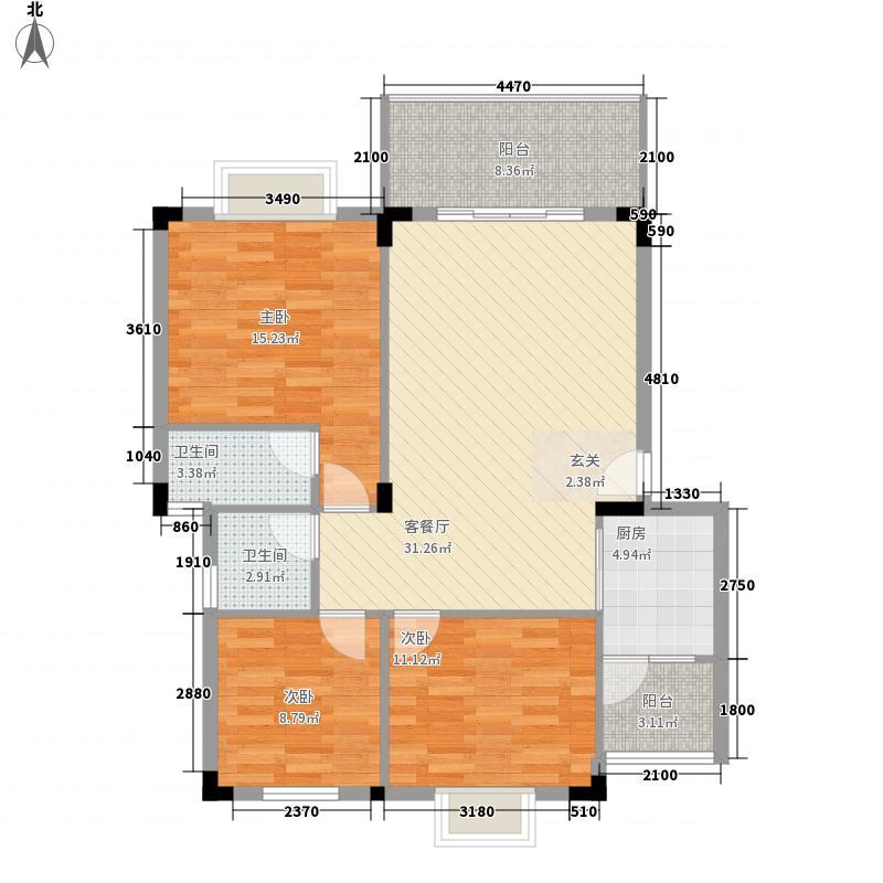 海天名城3113.12㎡户型3室2厅2卫1厨
