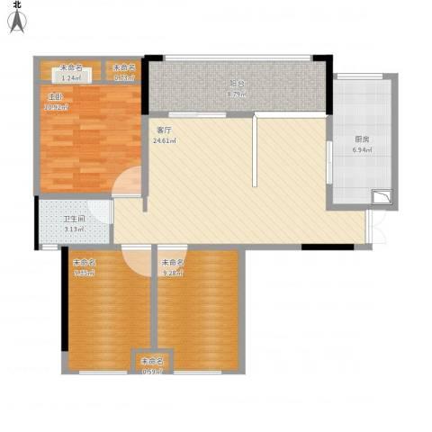 阳光・西雅图1室1厅4卫1厨108.00㎡户型图
