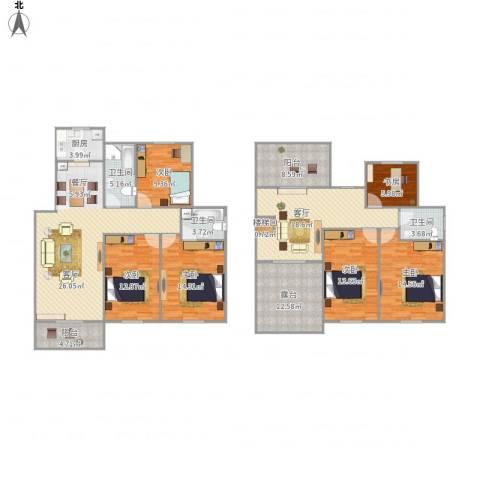 大观名园6室1厅3卫1厨219.00㎡户型图