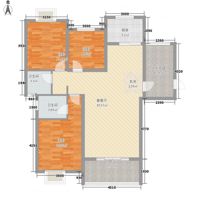 佳和颐景122.00㎡4、5幢K、户型3室2厅2卫1厨