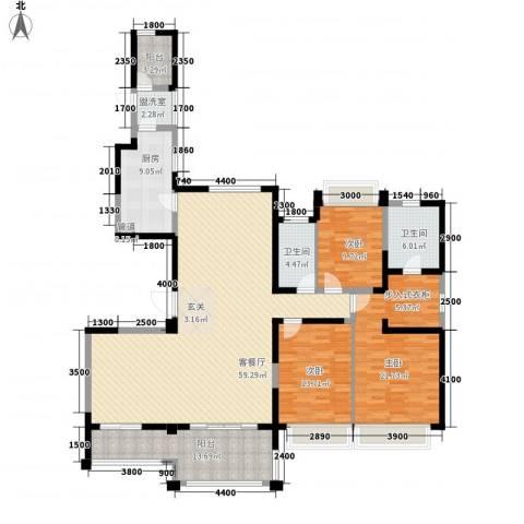 路劲天御3室2厅2卫1厨143.39㎡户型图