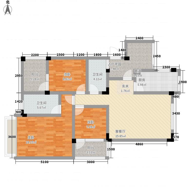未来城111.00㎡D户型3室2厅2卫1厨