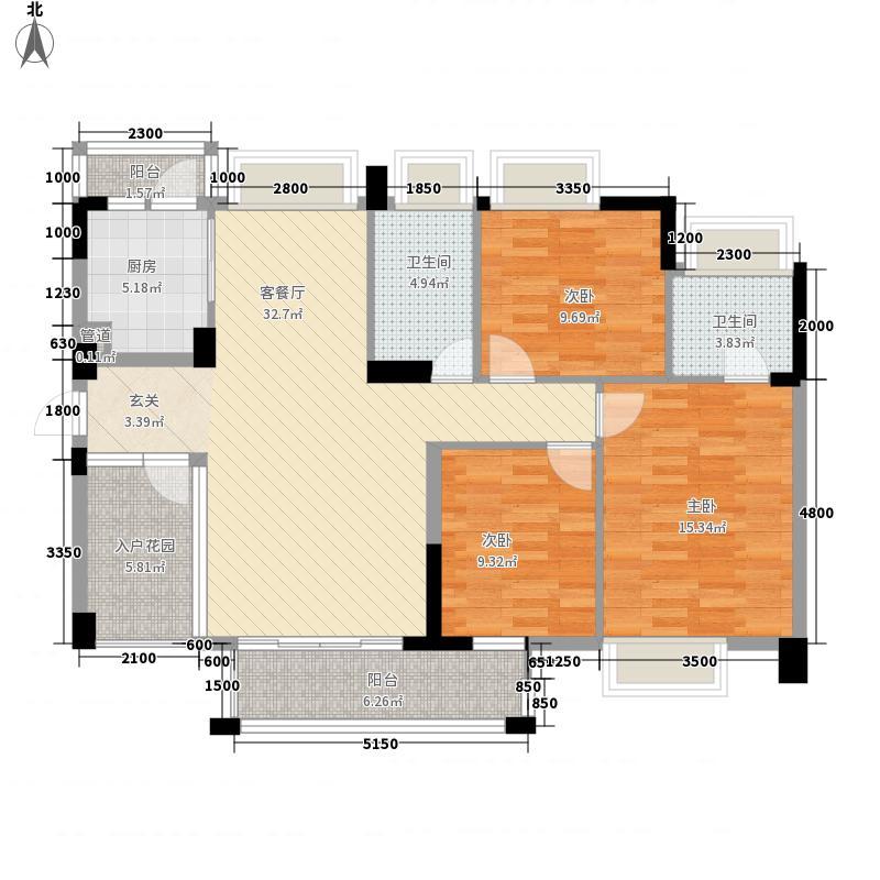 宝豪・御龙湾二期2118.37㎡C户型3室2厅2卫1厨
