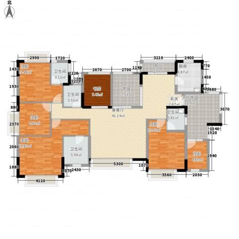 世纪城国际公馆 四期6室1厅4卫1厨216.00㎡户型图