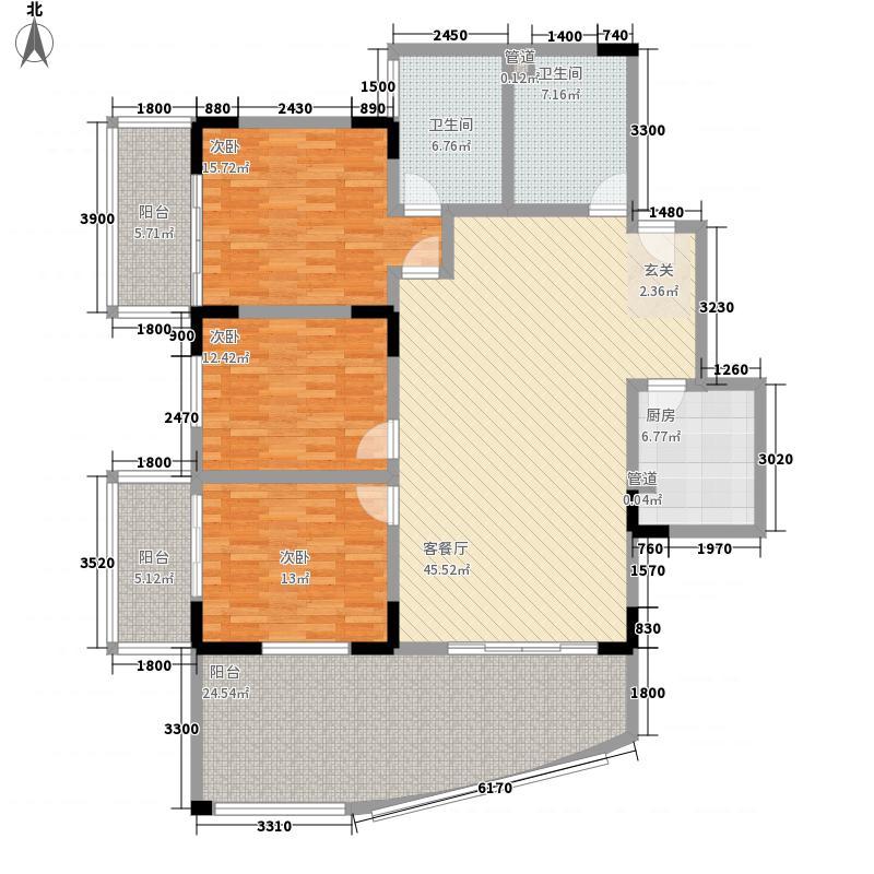 宏明大厦166.91㎡宏明大厦户型图F户型3室2厅2卫1厨户型3室2厅2卫1厨