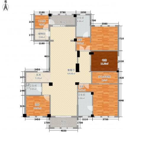 维科太子湾4室1厅3卫0厨228.00㎡户型图
