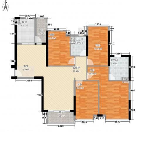 海伦湾4室1厅2卫1厨132.91㎡户型图