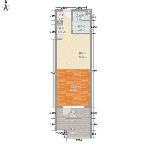 恒泰・时间海2厅1卫0厨54.00㎡户型图