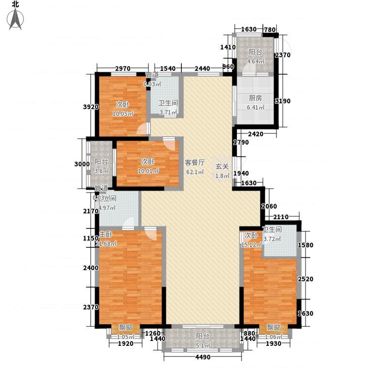 金龙湾215.00㎡10A户型4室2厅3卫1厨